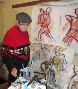 Bob Fergison in his studio