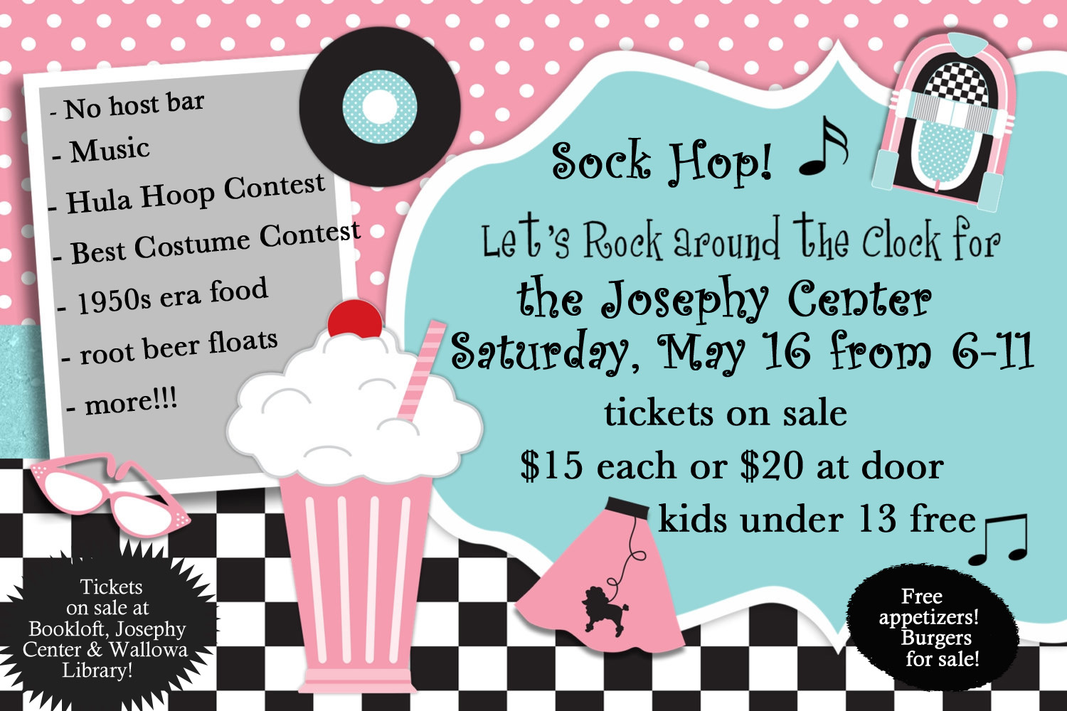 Sock Hop Fundraiser Josephy Center for Arts and Culture